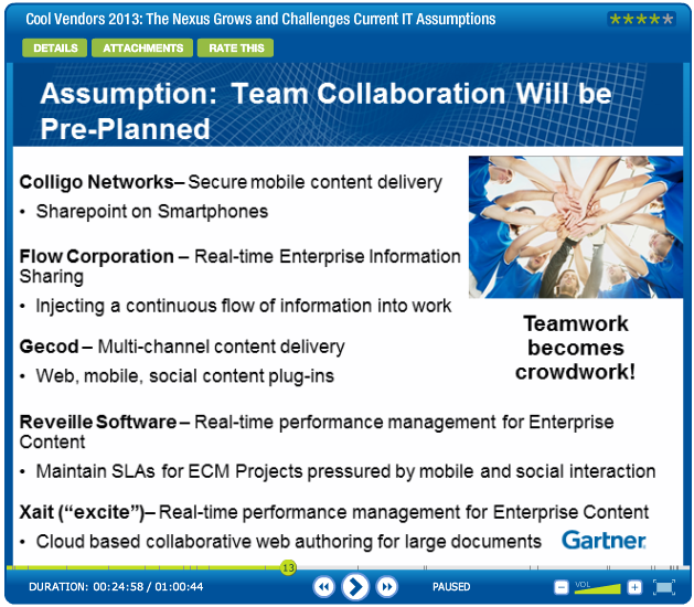 Gartner Webinar: Cool Vendors 2013