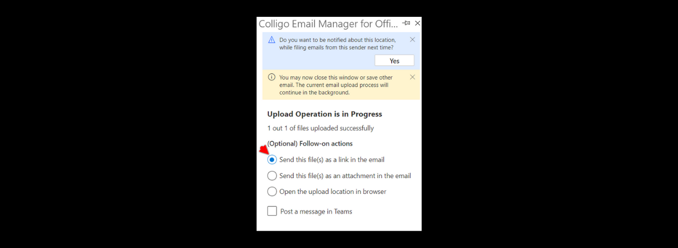 Save Email to SharePoint from Outlook 365