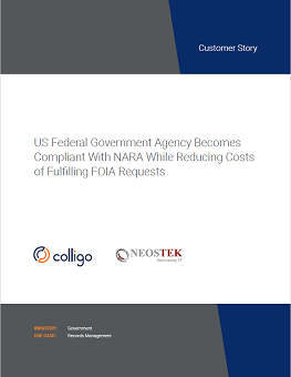 US Federal Government Agency Reduces Costs of FOIA Requests