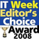 Winner, Editor's Choice Award