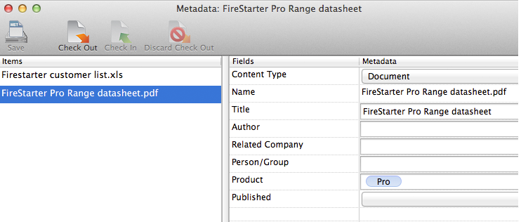 Metadata support on Colligo Engage Mac app