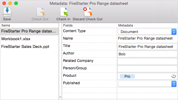Mac metadata prompt