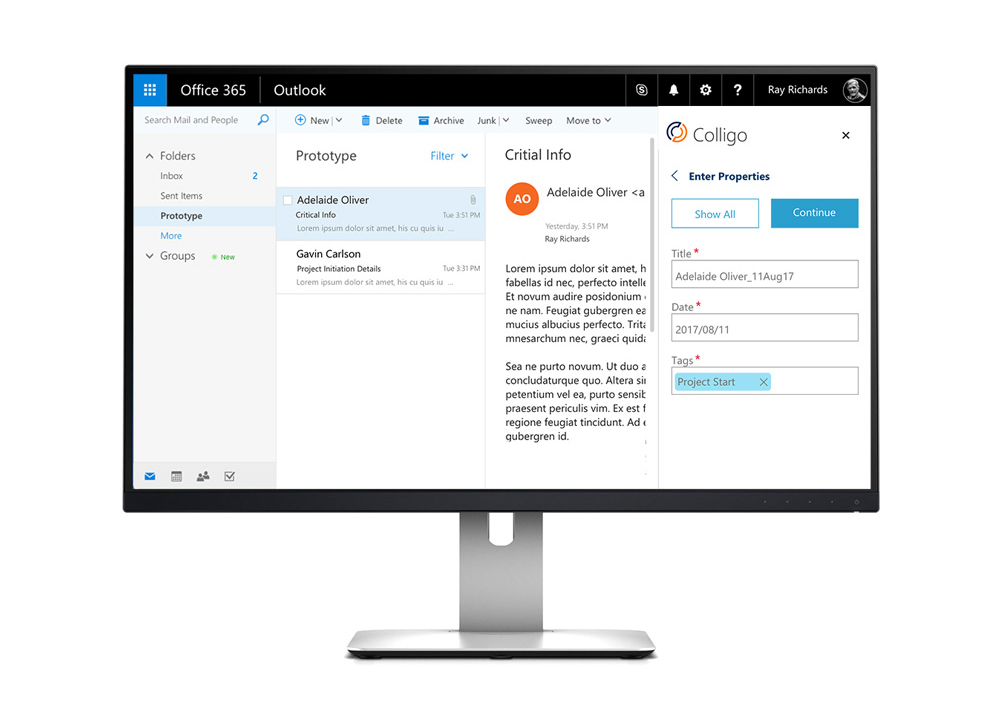 Colligo Email Manager for Office 365 | Products | Colligo