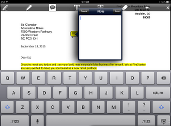 iOS PDF annotation