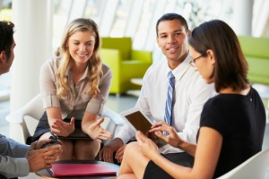 3-opportunities-sharepoint | Photo Courtesy of ThinkStock http://www.thinkstockphotos.com/image/stock-photo-businesspeople-with-digital-tablet-having/170083559