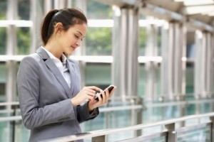 BYOD-mobile-access | Photo Courtesy of ThinkStock http://www.thinkstockphotos.com/image/stock-photo-hispanic-businesswoman-outside-office-on/154239305/