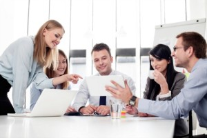 CIO-Adapt-User-Expectations | Photo Courtesy of ThinkStock http://www.thinkstockphotos.com/image/stock-photo-group-of-business-people-working-at-office/153681171/