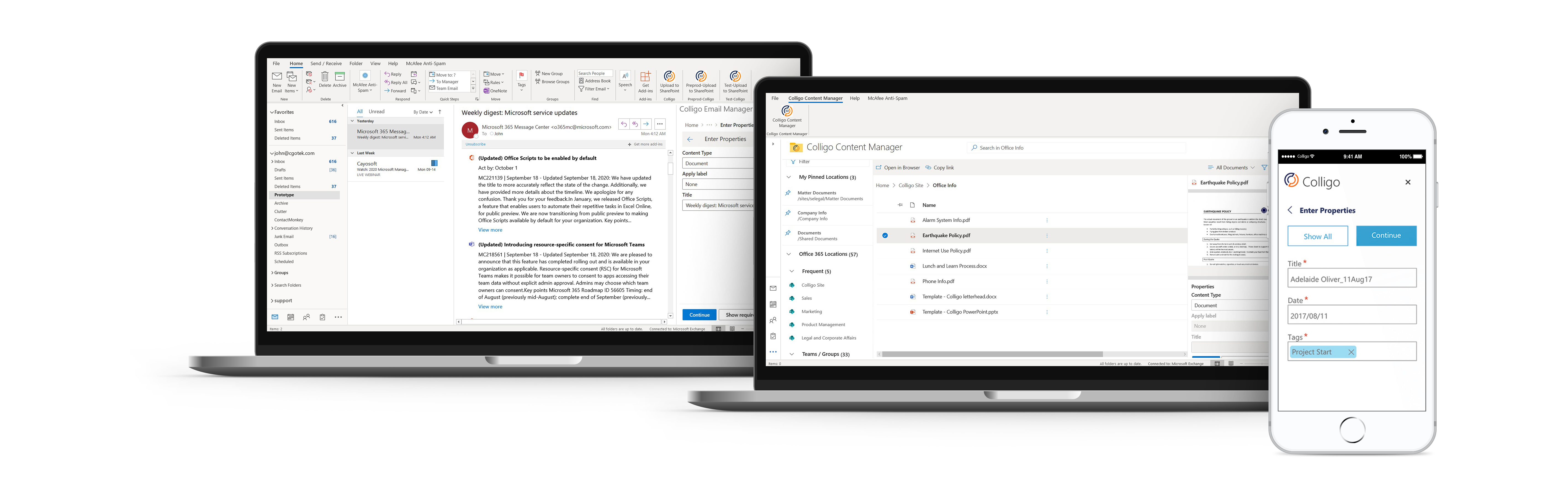 office 365 information governance SharePoint records management made simple with Colligo