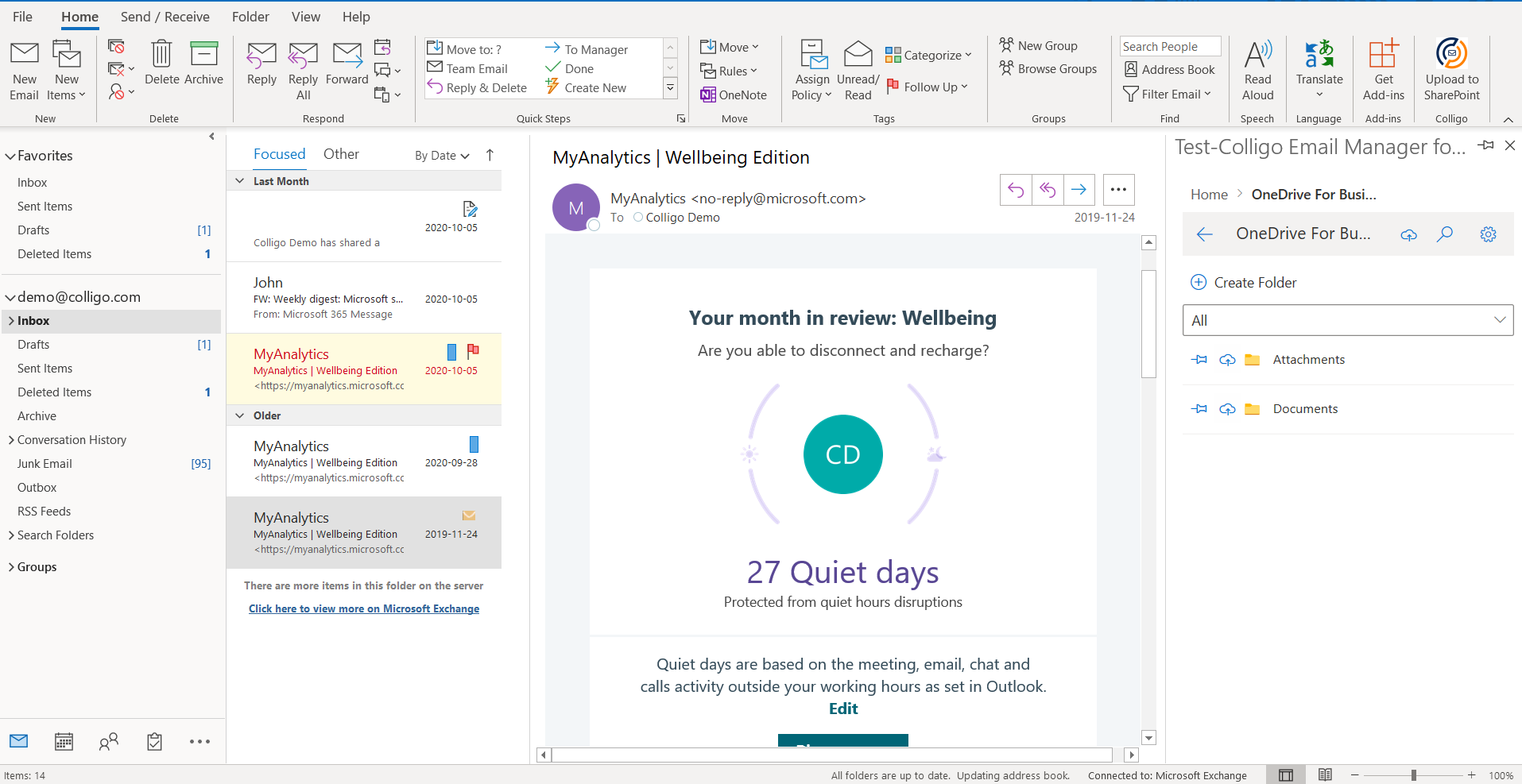 Colligo email manager now integrates with OneDrive