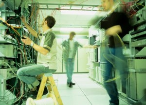 Distributed-Identity-Infrastructure | Photo Courtesy of ThinkStock http://www.thinkstockphotos.com/image/stock-photo-male-technician-seated-at-back-o-main/200315512-001