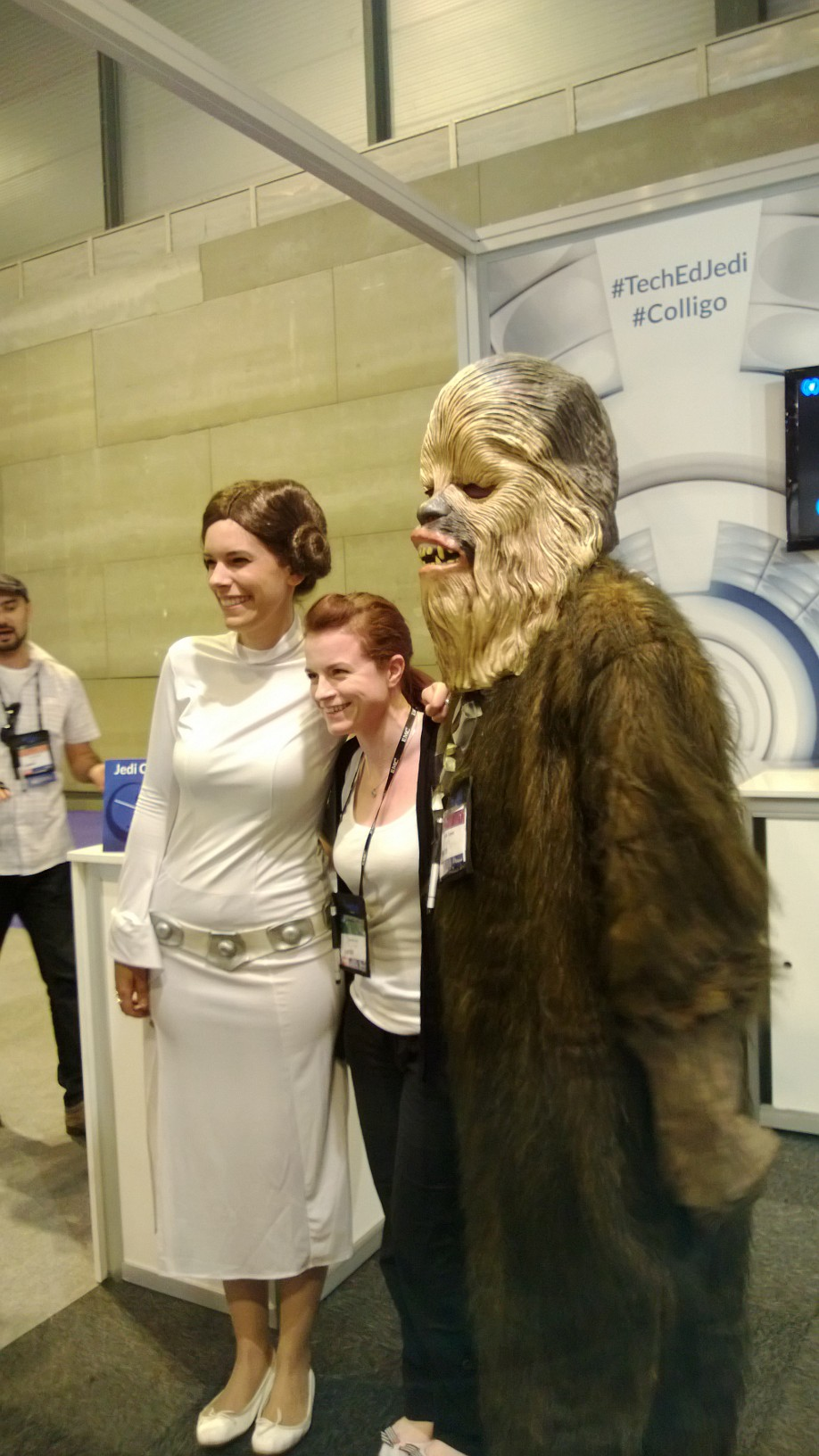 Princess Leia and Chewie posing for photos at TechEd Europe 2013