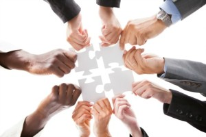 align-objectives-with-strategy | Photo Courtesy of ThinkStock http://www.thinkstockphotos.com/image/stock-photo-businesspeople-holding-jigsaw-puzzle/461149083