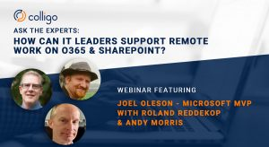 Colligo | Blog | Ask the experts webinar - SharePoint and Office 365