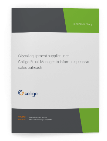 Colligo | Blog | Case Study: Global Equipment Supplier