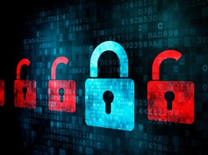 e-discovery-information-governance | Photo Courtesy of ThinkStock http://www.thinkstockphotos.com/image/stock-photo-many-red-opened-locks-around-one-closed-blue/148650499/