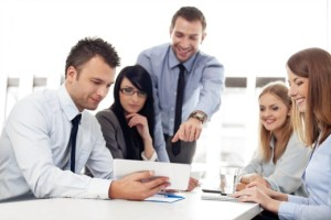 enterprise-grade-solutions | Photo Courtesy of ThinkStock http://www.thinkstockphotos.com/image/stock-photo-group-of-business-people-working-with-digital/177504695/