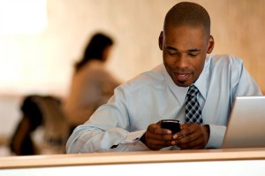 enterprise-mobile-experience | Photo Courtesy of ThinkStock http://www.thinkstockphotos.com/image/stock-photo-african-american-businessman-working-on-pda/122578713/