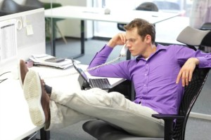 mobile-productivity-reality | Photo Courtesy of ThinkStock http://www.thinkstockphotos.com/image/stock-photo-relax-sitting-posture-during-office-work/479568091