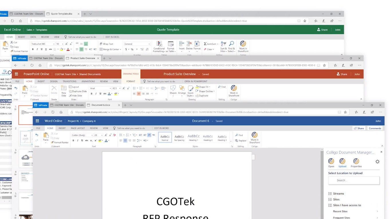 Document Manager for Office 365 1 Minute Video | Colligo