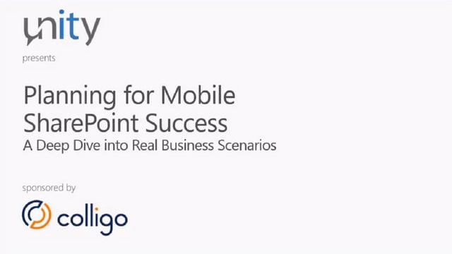 Planning for Mobile SharePoint Success